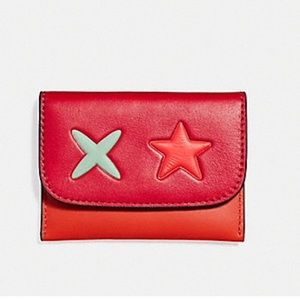 COACH star card pouch
